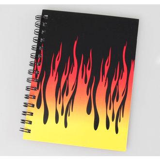 de notes carnet Flames