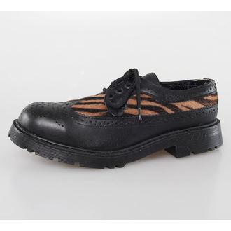 bottes en cuir pour femmes - Blk Leather/Capucino Zebrino - NNM, NNM