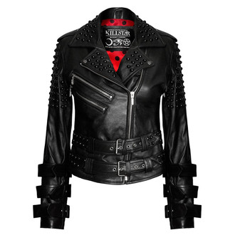 veste en cuir pour femmes - Buckled Leather - KILLSTAR, KILLSTAR