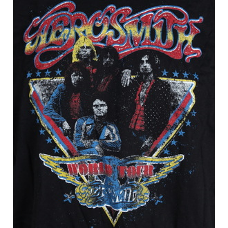 tee-shirt métal pour hommes Aerosmith - Distressed World Tour - LIVE NATION, LIVE NATION, Aerosmith