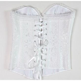 corset pour femmes DRACULA CLOTHG - Blanc - ENDOMMAGÉ, DRACULA CLOTHING