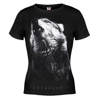 t-shirt hardcore pour femmes - Wolf - AMENOMEN - OMEN036DA