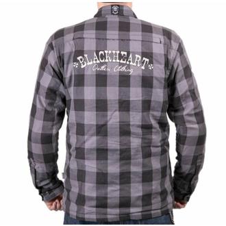 Motoshirt BLACK HEART - W-TEC - GRIS, BLACK HEART