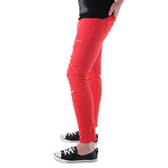 pantalon pour femmes VANS - Élevé Rise Back Zip Flame - Scarlet, VANS