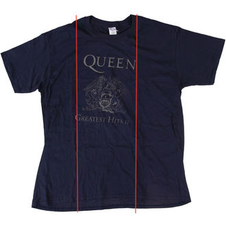 tee-shirt pour hommes Queen - Greatest Hits II - Navy - BRAVADO UE - ENDOMMAGÉ, BRAVADO EU, Queen