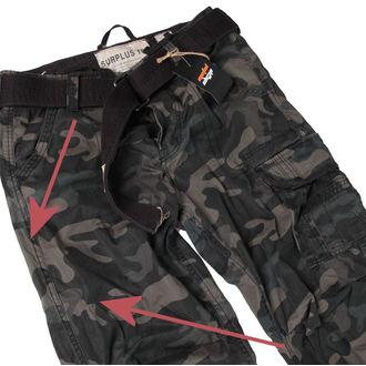 pantalon pour hommes SURPLUS - Premium Vintage - Noire Camo - ENDOMMAGÉ, SURPLUS