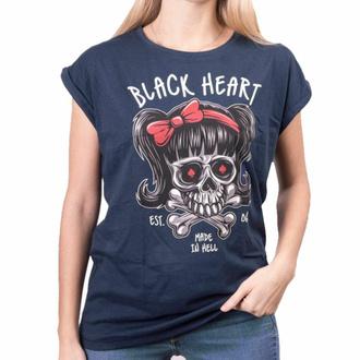 T-shirt pour femmes BLACK HEART - SANDY EXT - BLEU, BLACK HEART