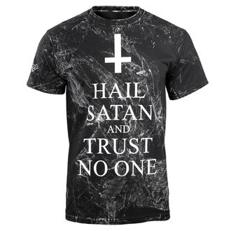 t-shirt hardcore pour hommes - HAIL SATAN AND TRUST NO ONE - AMENOMEN
