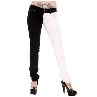 pantalon pour femmes 3RDAND56th - Split Leg - Noir / Blanc, 3RDAND56th
