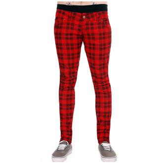 pantalon pour (unisex) 3RDAND56th - Vérifié - Noir / Rouge, 3RDAND56th