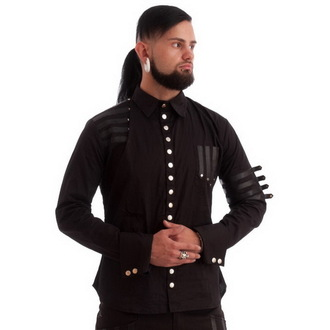 chemise pour hommes NECESSARY EVIL - Mephisto - Noire, NECESSARY EVIL