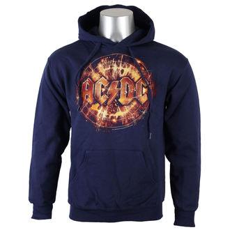 sweat-shirt avec capuche pour hommes AC-DC - Navy Electric Explosion Logo - LIVE NATION, LIVE NATION, AC-DC