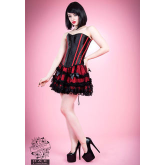 corset pour femmes HEARTS AND ROSES - Noire Rouge Os, HEARTS AND ROSES