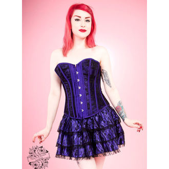 corset pour femmes HEARTS AND ROSES - Noire Net, HEARTS AND ROSES