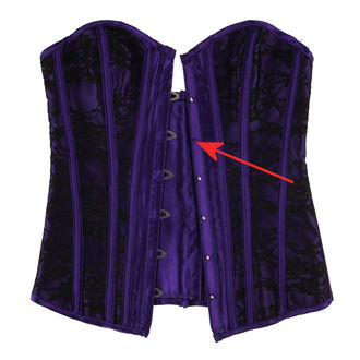 corset pour femmes HEARTS AND ROSES - Black Purple - ENDOMMAGÉ, HEARTS AND ROSES