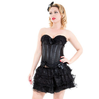 corset et jupes pour femmes HEARTS AND ROSES - Noire Corset With Skirt, HEARTS AND ROSES