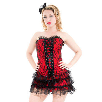 robe pour femmes HEARTS AND ROSES - Rouge Moulin Rouge, HEARTS AND ROSES