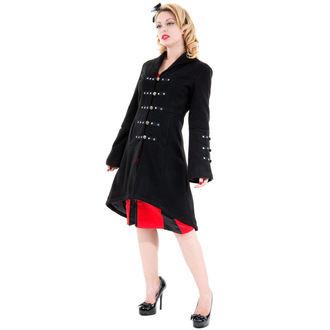 manteau pour femmes printemps-automne HEARTS AND ROSES - Réincarnation Noire, HEARTS AND ROSES