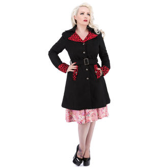 manteau pour femmes printemps-automne HEARTS AND ROSES - Noire Rouge Flocage, HEARTS AND ROSES