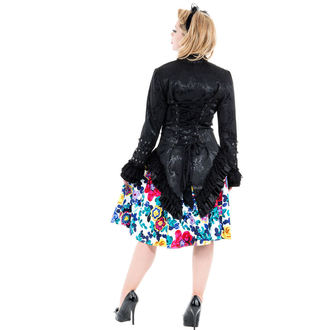 veste pour femmes printemps / automne HEARTS AND ROSES - Noire Victorian Brocade, HEARTS AND ROSES