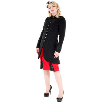 manteau pour femmes printemps-automne HEARTS AND ROSES - Military Cyber Rave Laine, HEARTS AND ROSES