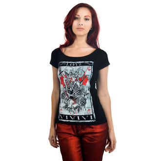 tee-shirt gothic et punk pour femmes - Skull Tarot - TOO FAST, TOO FAST