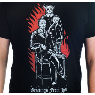 tee-shirt gothic et punk pour hommes - Greetings From Hell - TOO FAST, TOO FAST