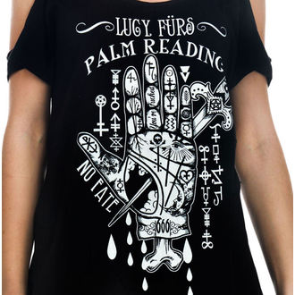 tee-shirt gothic et punk pour femmes - Lucy Furs Palm Read - TOO FAST, TOO FAST