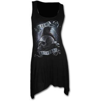 robe femmes (top) SPIRAL - Night Creature - Noir