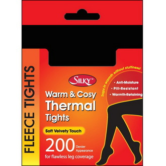 collants d`hiver (thermo) collants - Silky - Noire, LEGWEAR