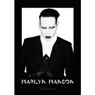 drapeau Marilyn Manson - Proper, HEART ROCK, Marilyn Manson