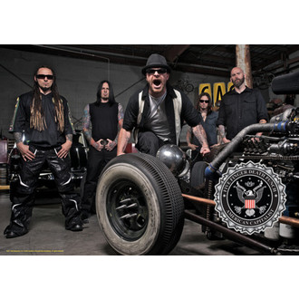 drapeau Five Finger Death Punch - Band Photo, HEART ROCK, Five Finger Death Punch
