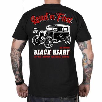 T-shirt pour homme BLACK HEART - HOT ROD A - NOIR, BLACK HEART