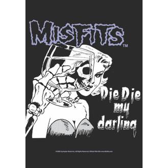 drapeau Misfits - Die Die My Darling,, HEART ROCK, Misfits