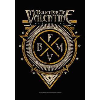 drapeau Bullet For My Valentine - Emblem, HEART ROCK, Bullet For my Valentine