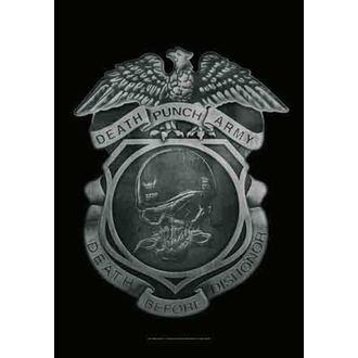 drapeau Five Finger Death Punch - Enforcer, HEART ROCK, Five Finger Death Punch