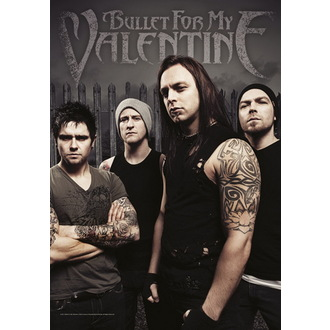 drapeau Bullet For My Valentine - Band Photo, HEART ROCK, Bullet For my Valentine