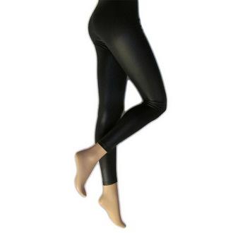 pantalon pour femmes (caleçons longs) collants - Mousse Look - Noire, LEGWEAR