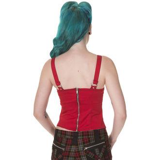 corset pour femmes DEAD THREADS - Rouge / Noir, DEAD THREADS