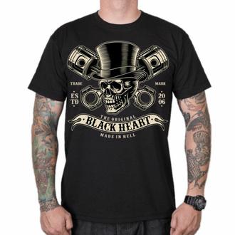 T-shirt pour homme BLACK HEART - GENTLEMAN - NOIR, BLACK HEART
