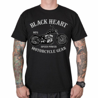 T-shirt pour homme BLACK HEART - CHOPPER - NOIR, BLACK HEART