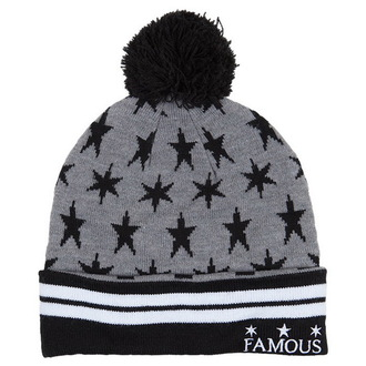 bonnet FAMOUS STARS & STRAPS - Lunar Pom - Grey, FAMOUS STARS & STRAPS