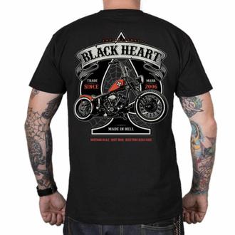 T-shirt pour homme BLACK HEART - CHOPPER ORANGE - NOIR, BLACK HEART