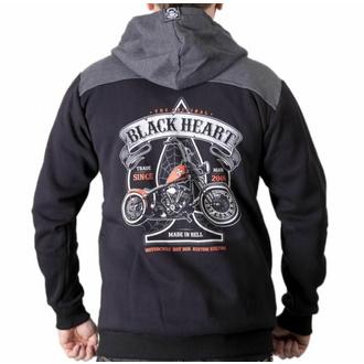 Sweat à capuche pour homme BLACK HEART - ORANGE CHOPPER - NOIR, BLACK HEART