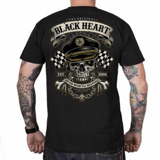 T-shirt pour homme BLACK HEART - OLD SCHOOL RACER - NOIR, BLACK HEART