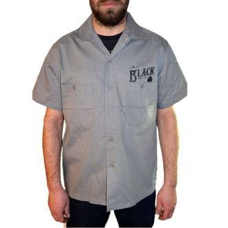 chemise pour hommes BLACK HEART - Clé Skull - Noire, BLACK HEART