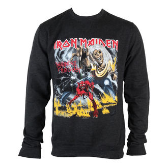sweat-shirt sans capuche pour hommes Iron Maiden - NOTB Puff Print - ROCK OFF - IMSWT03MB