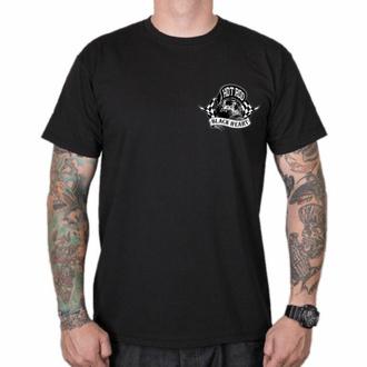 T-shirt pour homme BLACK HEART - HOTRODER SKULL - NOIR, BLACK HEART