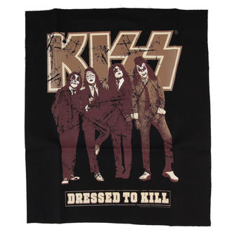 applique KISS - Dressed to Kill - BLK - LOW FREQUENCY, LOW FREQUENCY, Kiss