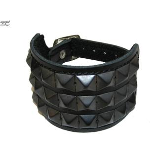 bracelet Pyramides 3, BLACK & METAL